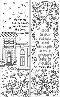 8 Printable Coloring Bookmarks Bible Verses Digital Doodles