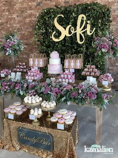 ideas baby shower desserts station for 2019 Donut Decorations, Baby Shower Decorations, Wedding Decorations, Cake Pink, Party Deco, Pastel Candy, Baby Shower Desserts, Baptism Party, Creation Deco