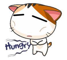 Gojill The Meow Animated Kitten Cartoon, Cartoon Gifs, Cartoon Faces, Cute Love Gif, Cute Cat Gif, Cute Puns, Cute Memes, Hungry Gif, Animated Smiley Faces