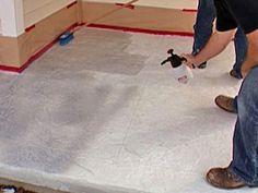 How to Stamp a Concrete Porch Floor Diy Stamped Concrete, Diy Concrete Stain, Stamped Concrete Driveway, Concrete Resurfacing, Concrete Overlay, Concrete Driveways, Stained Concrete, Concrete Floors, Concrete Stamping