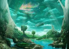 fantasy-welt Vektorgrafik