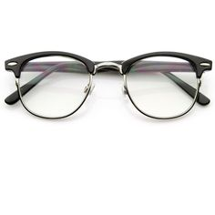 Vintage Optical Rx Clear Lens Half Frame Glasses 2946 49mm ($14) ❤ liked on Polyvore featuring accessories, eyewear, eyeglasses, glasses, sunglasses, half frame glasses, clear eyeglasses, tortoise eyeglasses, tortoiseshell eyeglasses and clear eye glasses
