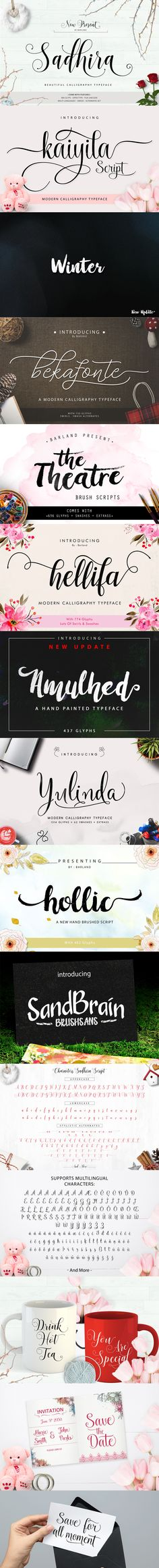 The Sweet Variety Font Bundle – just $13