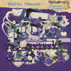 This is a gorgeous full size kit to scrap your precious memories 54 elements and 18 background papers