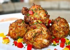 Smoked Trout Beignets, Yay! Served w/ Red Pepper Mayo