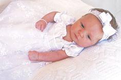 White blessing/christening dress by Bennair on Etsy
