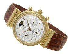 Armbanduhr: astronomischer Herrenchronograph IWC Da Vinci, ewiger Kalender & ewige Mondphase, mit Bo