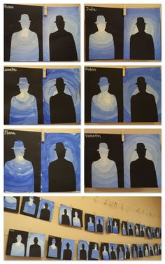Arts visuels - Ma Classe à Moâ / Cool art lesson for magritte Kunst Picasso, Art Picasso, Rene Magritte, Classe D'art, Middle School Art Projects, Art School, 6th Grade Art, Ecole Art, Art Lessons Elementary