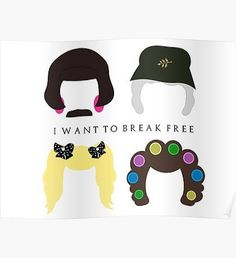 Freddie Mercury Posters I Want To Break Free (With Text) Poster Queen Art, I Am A Queen, Save The Queen, Freddie Mercury Tattoo, Queen Freddie Mercury, Queen Banda, Freedy Mercury, Rainha Do Rock, Queen Drawing