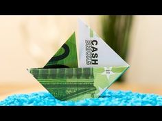 Creative Tip: How to fold a money origami sailboat ⛵ tutorial - YouTube