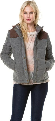 heather gray puffer