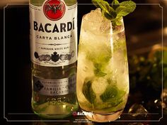 Mojito Bacardi, Mojito, Rum, Vodka Bottle, Drinks, Drinking, Beverages, Bacardi Cocktail, Drink
