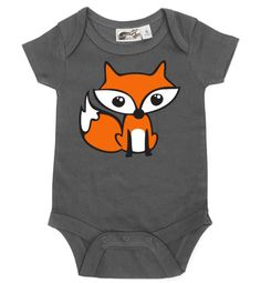 Fox Charcoal One Piece by My Baby Rocks - gender neutral baby clothes