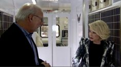 Lucy Pet Foundation founder, Joey Herrick, talking with Joan Rivers about our mobile clinic.