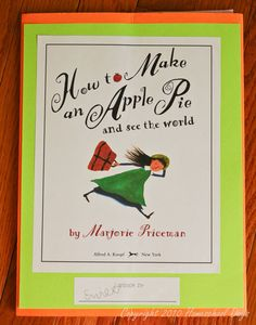 Homeschool Days: Lapbook - How to Make an Apple Pie and See the World