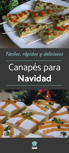 20 ideas de canapés para Navidad. En este artículo compartimos nuestras mejores recetas de canapés navideños, todas ellas recetas de canapés fáciles, rápidas y deliciosas. ¡Anímate a probarlas! #RecetasGratis #Navidad #RecetasparaNavidad #RecetasNavideñas #CenadeNavidad #CenadeNocheVieja #CenadeNocheBuena #CanapesNavidad Finger Food Appetizers, Finger Foods, Appetizer Recipes, Tapas, Cooking Time, Cooking Recipes, Pizza Bites, Christmas Snacks, Good Healthy Recipes