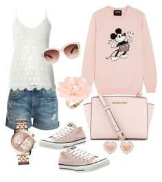 Hanging with Friends by sassyzanne on Polyvore featuring polyvore, fashion, style, Markus Lupfer, Dorothy Perkins, Current/Elliott, Converse, MICHAEL Michael Kors, Michael Kors, Swarovski, Dettagli and Eloquii