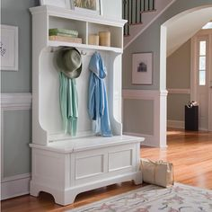 This would be a nice addition to our laundry room. A nice place for sitting while removing their shoes.