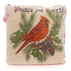 Christmas Crimson Cardinal Pillow Christmas Decor