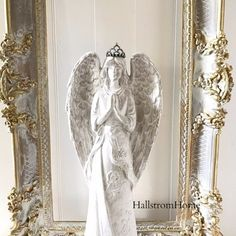 Jeanne d'Arc Angel Statue with Crown