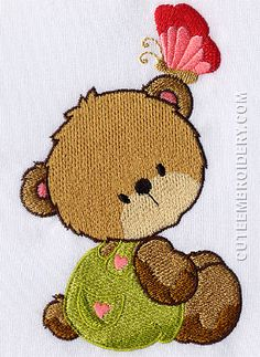 Free Embroidery Designs, Cute Embroidery Designs Towel Embroidery, Free Machine Embroidery Designs, Embroidery Hoop Art, Beaded Embroidery, Embroidery Stitches, Janome, Kawaii Wallpaper, Sewing Aprons, Baby Quilts