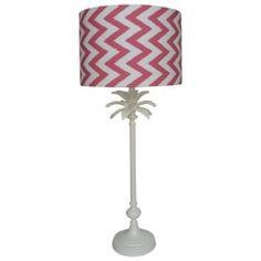 Raspberry chevron lampshade and white pineapple lampbase Custom Cushions, Cool Lamps, Lamp Bases, Bedroom Inspiration, Lighting Ideas, Chevron, Pineapple, Raspberry, Cool Stuff