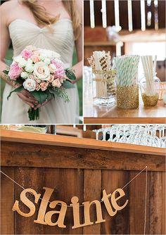 gold glitter wedding decor