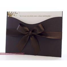 convite de casamento com envelope 9