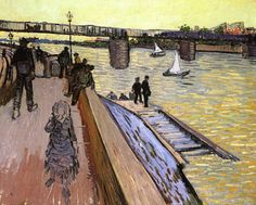Vincent Van Gogh - The Bridge at Trinquetaille, 1888. Oil on canvas, 65 x 81cm. Private Collection