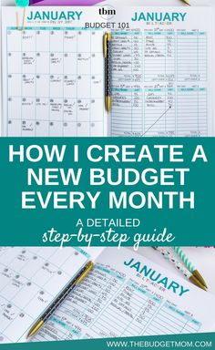 Your budget will only work if you keep it updated and relevant. Stop using the same old budget every month. Use this detailed guide to learn how to create a new working monthly budget without a lot of effort. #budget #personalfinance #budgeting #money #tips via @thebudgetmom