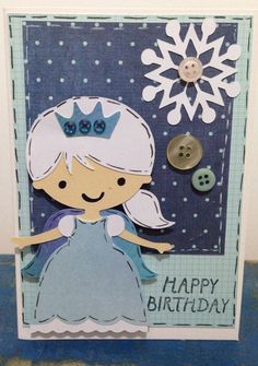 Frozen inspired cricut create a friend birthday card elsa willow fox designs