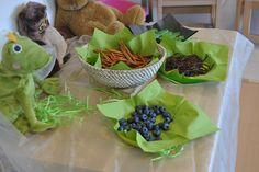 Grün, lindgrün, moosgrün passt gut als unifarbene Servietten unter alles Essbare auf dem Feengeburtstag.