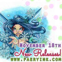 New Releases  Lil Dumplings Christmas Cuties Destiny Snow Whisper Kiss #digitalstamps #coloringpages #fairies