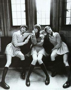 Christy Turlington, Linda Evangelista and Meghan Douglas photographed by Steven Meisel for Vogue Italia, March 1994