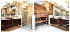 bathroom remodel, sauna, portland metro, design and build, contractor Bathroom Plans, Small Bathroom, Bathroom Ideas, Garage Bathroom, Bathroom Closet, Bathroom Designs, Bathroom Inspiration, Sauna Shower, Shower Floor