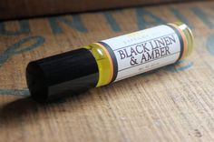 Black Linen & Amber Perfume Oil, $8. I am obsessed with these little Perfume Oils