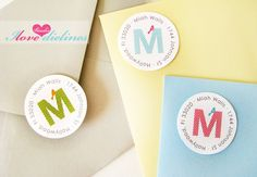 ON SALE  Monogram Return Address Labels by IlovedielineStudio, $6.00