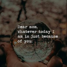 Mom ❤️ Just Because Of You, Dear Mom, Happy Mom, Instagram