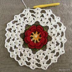 Trilho de mesa - caminho de mesa com flor rasteirinha - passo a passo (31)