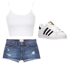 """Untitled #32"" by nikechamp ❤ liked on Polyvore featuring Topshop, adidas and Current/Elliott"