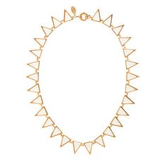Jennifer Meyer for J.Crew Carson triangle necklace - jennifer meyer - Women's jewelry - J.Crew