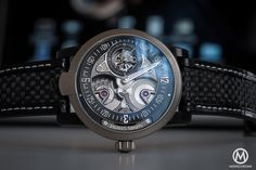 Hands-on review of the Armin Strom Racing Gravity, a sports watch inspired by racing cars and with a movement made of Formula one parts (specs & price)