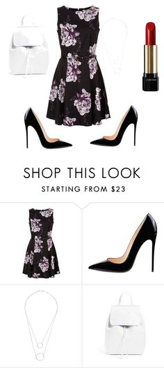 """""""A little floral."""" by thaliagracehyperion on Polyvore featuring Witchery, Mansur Gavriel and Lancôme"""