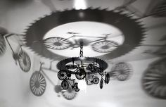 Bicycle Lovers!!!!   Check out our newest creation! This bicycle shadow light thats casts an artistic image of a bicycle on your ceiling and walls will be a great accent to your home, bar, or any other fun space!! Picture yourself riding through the French Countryside with your beret on, or riding through the great state of IOWA on RAGBRAI in the Summer. With this addition to your décor, you can take your imagination on a ride. One of a kind gift!!!!  Place your order today!  Dimensions: 10H…