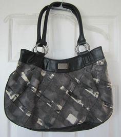 Simply Vera Purse Vera Wang Handbag Classy Black & Cream Double Handles