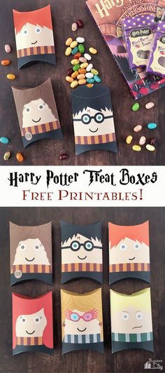 DIY Harry Potter Pillow Boxes perfect for gifts, party favors, and treat boxes! Free printable and tutorial to create your own.