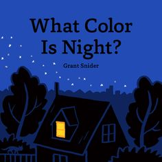 """Read """"What Color Is Night?"""" by Grant Snider available from Rakuten Kobo. Grant Snider's beautiful debut picture book explores the wonders—and colors—of nighttime. For night is not . Toddler Books, Childrens Books, Best Books For Kindergarteners, Color Of Night, Bedtime Reading, Night Book, Kindergarten Books, Bedtime Stories, Toddler Preschool"""