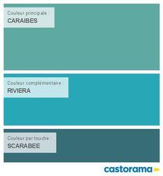 Castorama Nuancier Peinture - Mon harmonie Peinture  CARAIBES satin de COLOURS Collection
