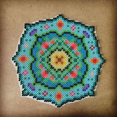 Mandala -- perler beads by capriciousarts