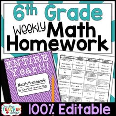 Need Spiral MATH HOMEWORK, DAILY MATH REVIEWS, or BELL RINGERS that will keep math concepts fresh all year? This 100% editable, TOP-SELLING daily math review resource will do just that and more!